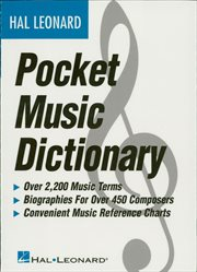 The hal leonard pocket music dictionary (music instruction) cover image