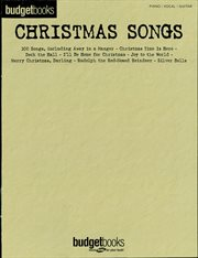 Christmas songs (songbook). Budget Books cover image