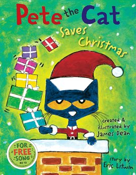 Pete The Cat Saves Christmas, book cover