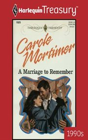 A marriage to remember cover image