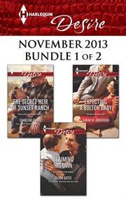 Harlequin desire November 2013. Bundle 1 of 2 cover image