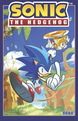 Sonic the Hedgehog, book cover