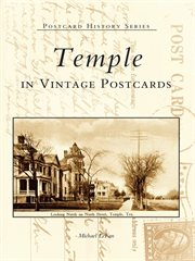 Temple in vintage postcards cover image
