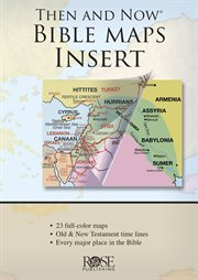 Then and now bible maps insert cover image