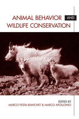Cover image for Animal Behavior and Wildlife Conservation
