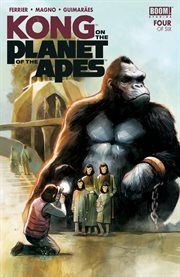 Kong on the planet of the apes. Issue 4 cover image