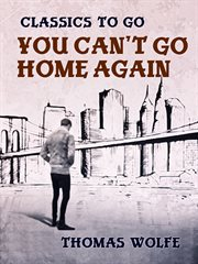 You can't go home again cover image