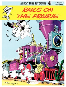 Cover image for Lucky Luke Vol. 32: Rails on the Prairie