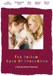 Yellow eyes of the crocodile