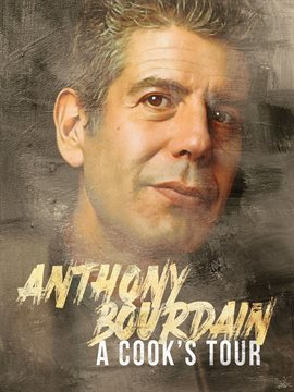 Video cover image: Photo of Anthony Bourdain (3/4 face) looking up and off-camera