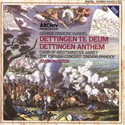 Handel: dettingen te deum; dettingen anthem cover image