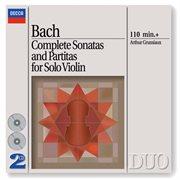 Bach, j.s.: complete sonatas & partitas for solo violin cover image