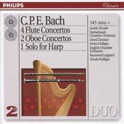 Bach, c.p.e.: 4 flute concertos; 2 oboe concertos, etc cover image