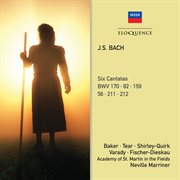 J.s. bach: six cantatas cover image