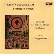 Italian & English church music cover image