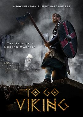 Cover image for To Go Viking featuring a warrior wielding axe and shield, with skyscrapers looming in the background