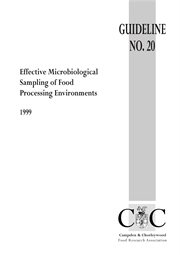 Effective Microbiological Sampling of Food Processing Environments (1999)