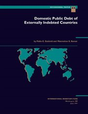 Domestic Public Debt of Externally Indebted Countries