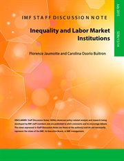Inequality and Labor Market Institutions