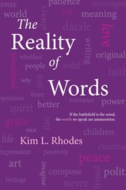 The reality of words cover image