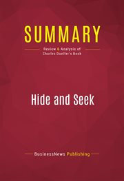 Summary of Hide and Seek: the Search for Truth in Iraq - Charles Duelfer