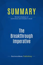 Book Summary: the Breakthrough Imperative