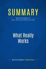 Book Summary: What Really Works