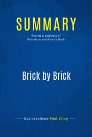 Book Summary: Brick by Brick