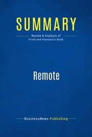 Book Summary: Remote