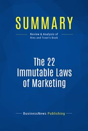 Summary: the 22 Immutable Laws of Marketing - Al Ries and Jack Trout