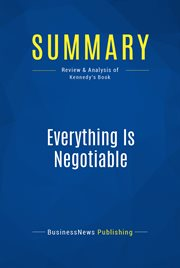 Book Summary: Everything Is Negotiable