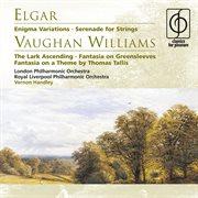 Elgar enigma variations, vaughan williams the lark ascending cover image