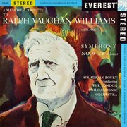 A memorial tribute to ralph vaughan williams: symphony no. 9 (transferred from the original everest cover image