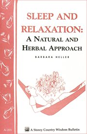 Sleep and relaxation: a natural and herbal approach cover image